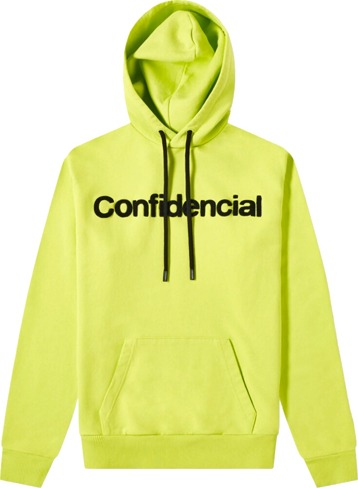 Marcelo Burlon Yellow Confidential Hoodie