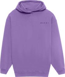 Marini Lavender Logo Floral Hoodie