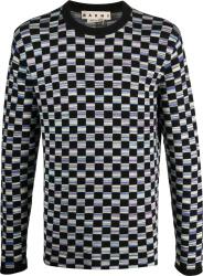 Marni Black And Multicolor Checkerboard Sweater