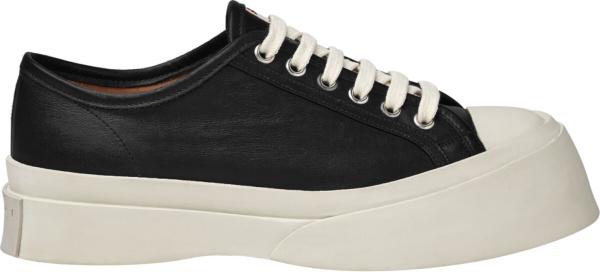 Marni Black Leather Pablo Sneakers