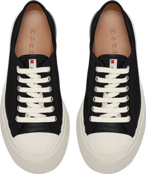 Marni Black Leather Platform Sneakers
