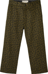 Marni Green Cells Camo Pants