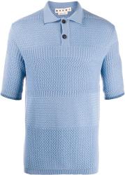 Marni Light Blue Knit Polo