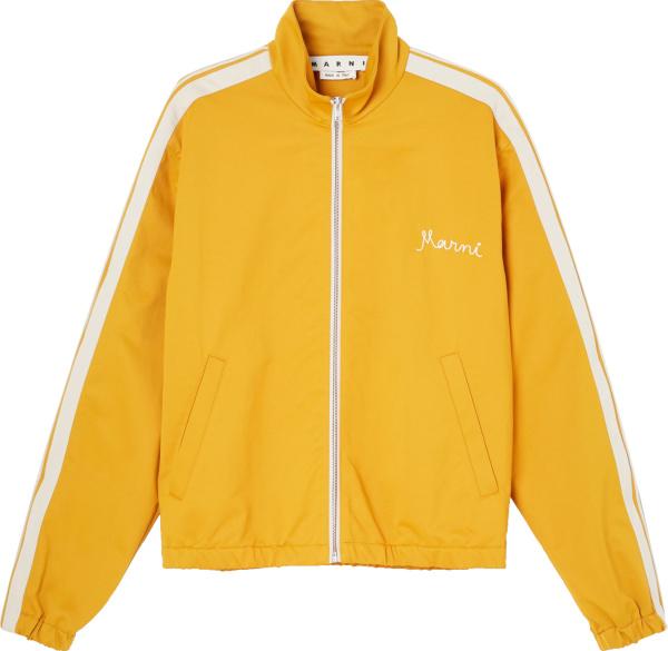 Marni Yellow And White Stripe Track Jacket