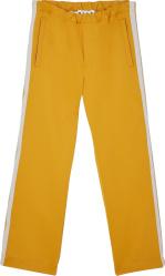 Marni Yellow And White Stripe Track Pants