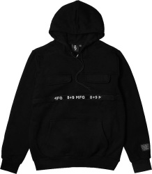 Marthine Francois Girbaud X 8 And 9 Black Strapped Up Hoodie