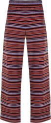 Martine Rose Multicolor Striped Velour Pants