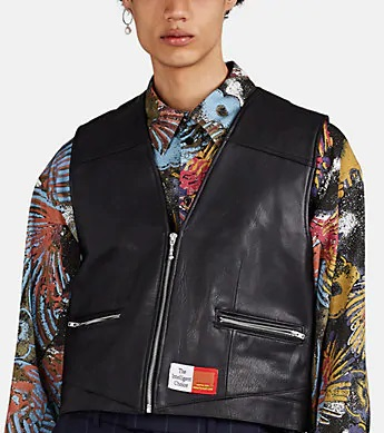 Martine Rose The Intelligent Choice Shrunken Leather Vest Worn By Offset