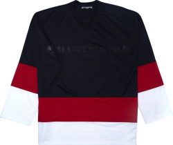 Black, Red, & White Hockey Jersey