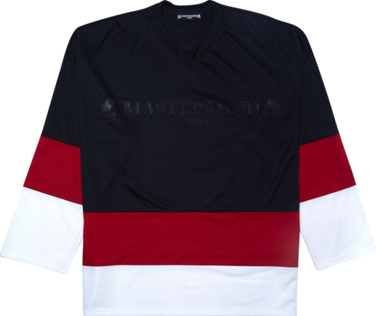 Mastermind Japan Black Red White Hockey Jersey