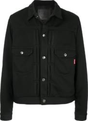 Mastermind Japan Black Snap Front Jacket