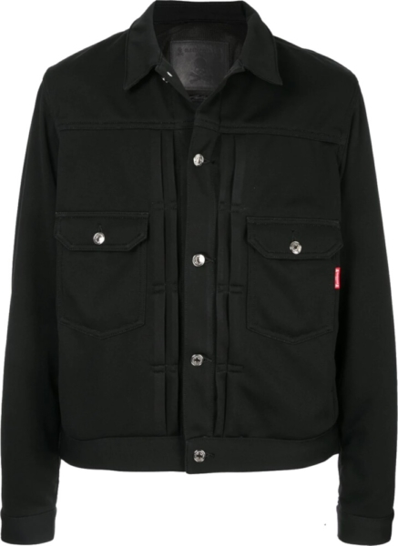 Mastermind Japan Black Snap Front Jacket