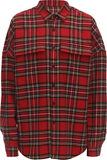 Mastermind World Red Tartan Shirt
