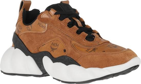 Mcm Brown Leather Himmel Sneakers