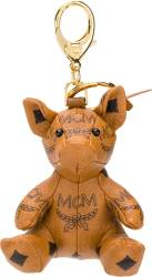 Brown Leather 'Zoo Pig' Keyring