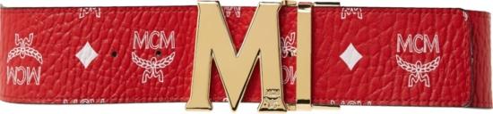 Mcm Red Visetos Belt