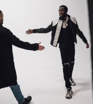 Meek Mill On The Set Of Believe Music Video In Rick Owens Rta And Balenciaga Sneakers