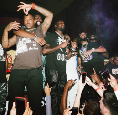 Meek Mill Parties With Yg In A Gucci T Shrit