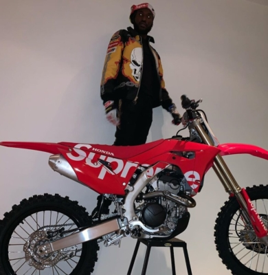 Meek Mill Shows Off Supreme Dirt Bike In Matching Jacket And Goggles