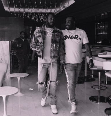 Meek Mill Wearing A Balenciaga Jacket And Fear Of God Jeans