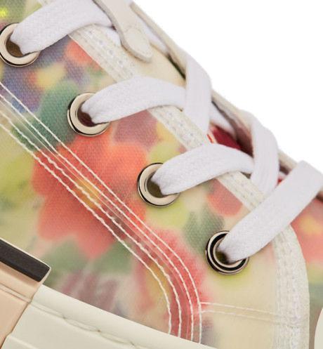Mens Dior Low Top Floral Print Sneakers