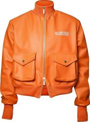 Mercy X Mankind Orange Leather Cargo Jacket