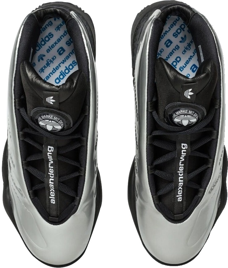 Metallic Silver Adidas Sneakers