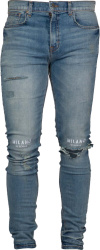 Milano Di Gogue Logo Embroidered Ripped Jeans