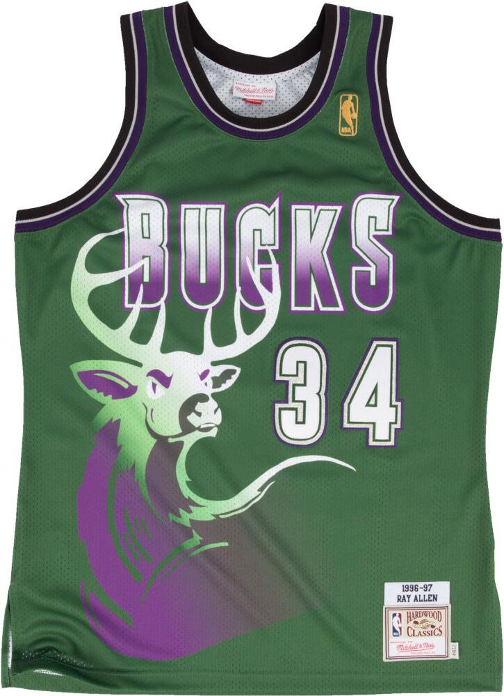 Milwaukee Bucks Green Deer #34 Ray Allen Jersey