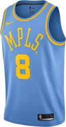 Minneapolis Lakers Light Blue Kobe Bryant Jersey