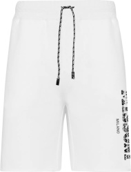 Missoni White And Black Vertical Logo Shorts