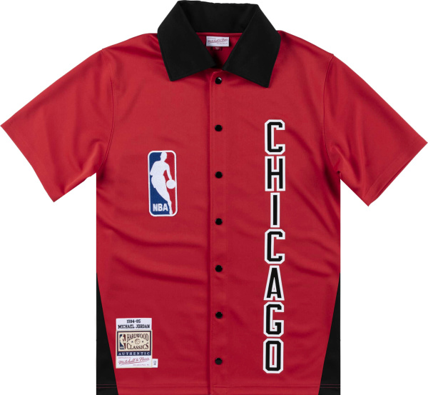 Mitchell And Ness 1984 85 Chicago Bulls Red Warm Up Shirt