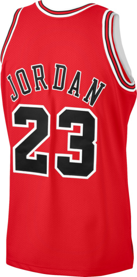 Mitchell And Ness Chicago Bulls Red Michael Jordan Jersey