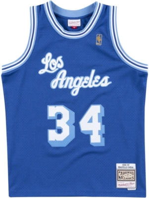 Mitchell And Ness La Lakers Blue Jersey