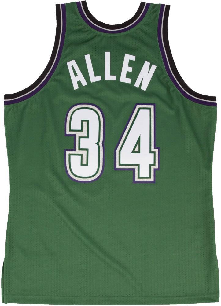 1996-97 Milwaukee Bucks Green #34 Ray Allen Jersey