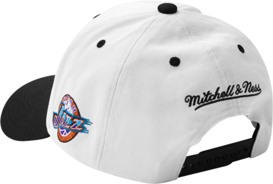 Mitchell And Ness White And Black 1998 Nba Finals Hat