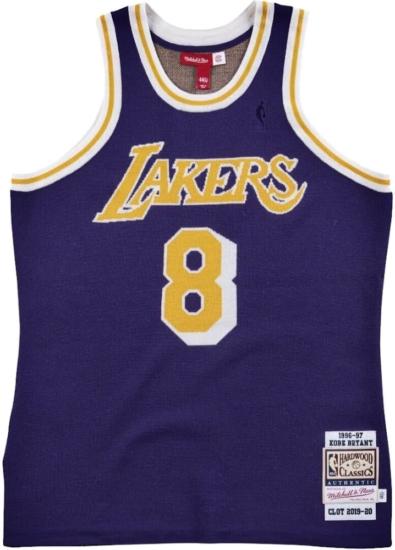 Mitchell And Ness X Clot Purple Knit Kobe Bryant Jersey