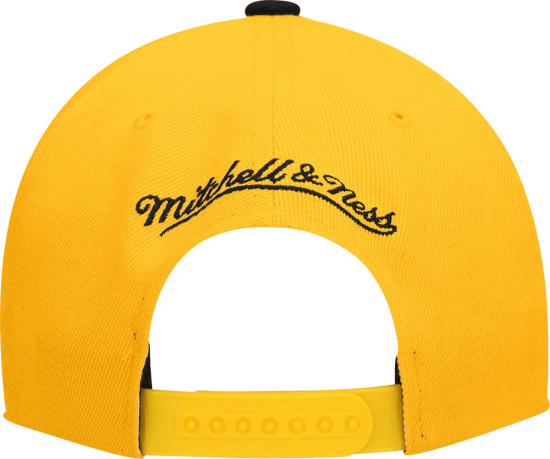 Mitchell And Ness Yellow And Black Core Snapback