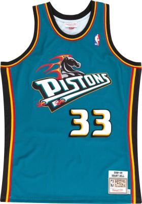 Mitchell & Ness 1998 99 Detroit Pistons Grant Hill 33 Swingman Jersey