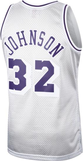 Mitchell Ness La Lakers Silver Magic Johnson Jersey