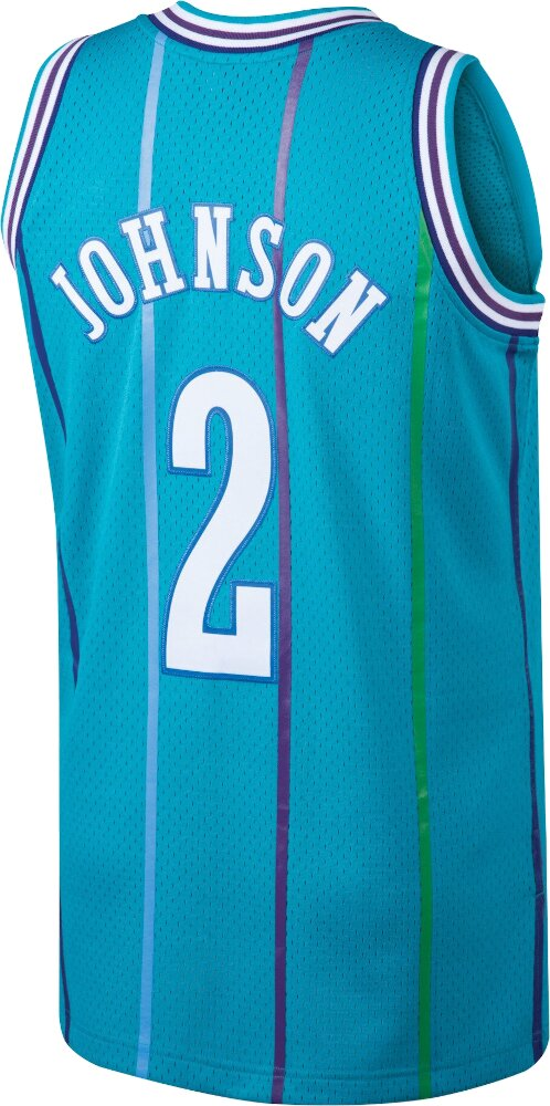 Mitchell & Ness Larry Johnson Charlotte Hornets Jersey