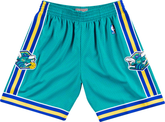 Mitchell Ness Teal New Orleans Swingman Shorts