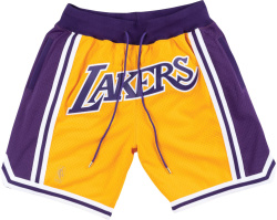 Mitchell & Ness x Just Don L.A. Lakers Yellow Shorts
