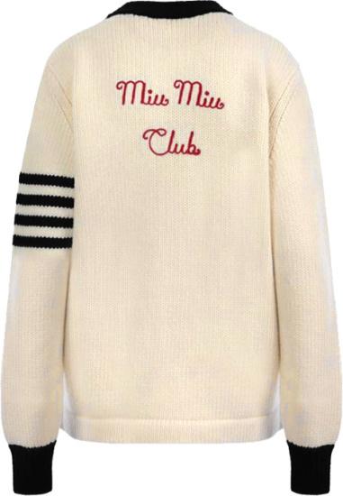 Miu Miu White Miu Miu Club Cardigan