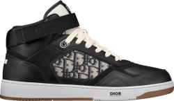 Black High-Top 'B27' Sneakers