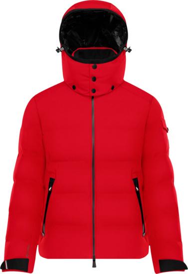 Moncler Montgetech Red Puffer Jacket