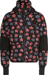 Moncler Allover Star Print Black Puffer Jacket