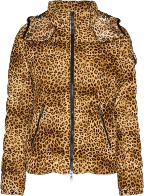 Moncler Baby Leopard Print Puffer Jacket