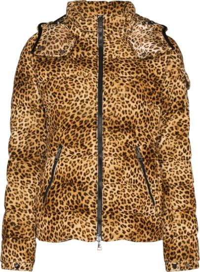 Moncler Baby Leopard Print Puffer Jacket