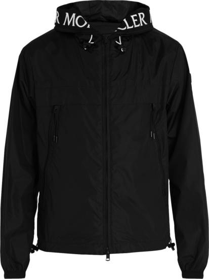 Moncler Black Massereau Hooded Jacket
